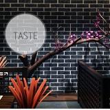 Decal dán tường Giấy dán tường 3d gạch xám đen