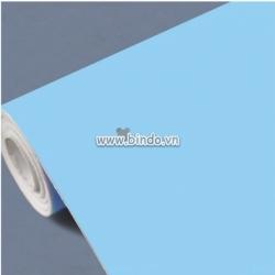 Decal dán tường Giấy decal cuộn màu xanh trơn (1,2x1,0 m)