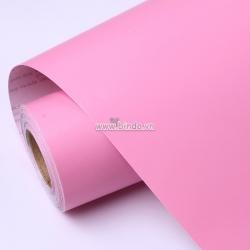 Decal dán tường Giấy decal cuộn màu hồng nhám