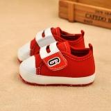 Giày tập đi cho bé đỏ tươi trắng