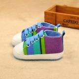 Giày tập đi cho bé sọc xám sắc màu