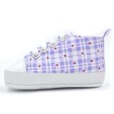 Giày tập đi cho bé sọc xanh trắng chấm hoa