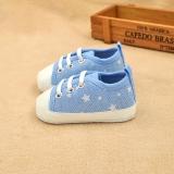 Giày tập đi cho bé màu xanh da trời chấm ngôi sao