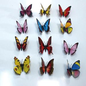Gương trang trí bươm bướm sắc màu (12 con)