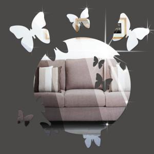 Gương trang trí hình tròn và bươm bướm