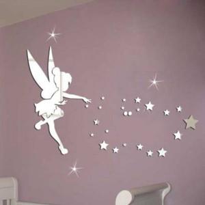 Gương trang trí thiên thần và ngôi sao