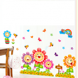 Decal dán tường Hoa mặt trời
