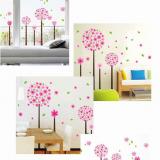 Decal dán tường Hoa tú cầu hồng