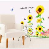 Decal dán tường Khu vườn hoa hướng dương