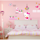 Decal dán tường Hello Kitty 6