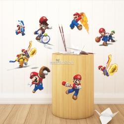Decal dán tường Mario chơi thể thao