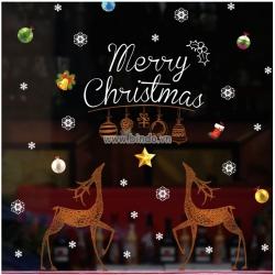 Decal dán tường Merry Christmas 4