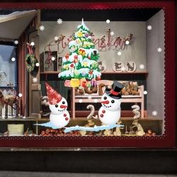 Decal dán tường Noel 57 - Đôi bạn tuyết