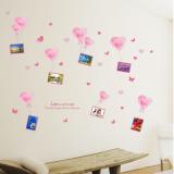 Decal dán tường Photo bóng bay hồng
