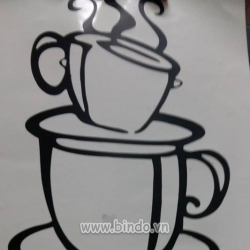 Decal dán tường Tách cà phê 4