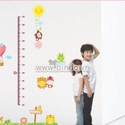 Decal dán tường Thước đo 2
