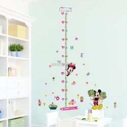Decal dán tường Thước đo chuột Mickey