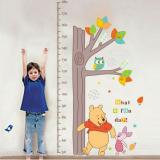 Decal dán tường Thước đo gấu Pooh 2