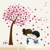 Decal dán tường Tình yêu màu hồng 2