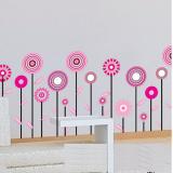 Decal dán tường Vườn hoa kẹo