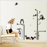 Decal dán tường Vườn sóc đen