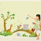 Decal dán tường Vườn thú 10