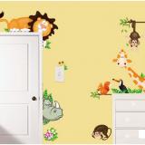 Decal dán tường Vườn thú 9 hiệu Zooyoo