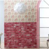 Decal dán tường Xốp đá Hàn Quốc màu hồng sần