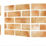 Decal dán tường Xốp giả gạch Hàn Quốc màu Nâu trơn
