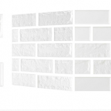 Decal dán tường Xốp giả gạch Hàn Quốc màu trắng trơn