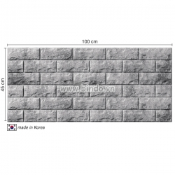 Decal dán tường Xốp dán tường hàn quốc màu xám bạc (100x45)