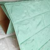 Decal dán tường Xốp dán tường màu xanh ngọc (KNZ)