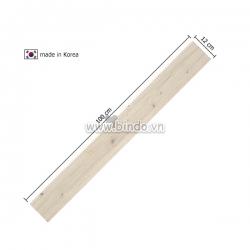 Decal dán tường Xốp giả gỗ hàn quốc chân tường Ivory (100x12)