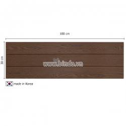 Decal dán tường Xốp giả gỗ hàn quốc walnut (100x30)