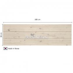 Decal dán tường Xốp giả gỗ hàn quốc Ivory (vân gỗ tự nhiên) (100x30)