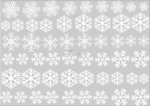 Decal dán tường bông tuyết