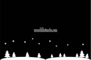 Decal dán tường cánh đồng tuyết 3