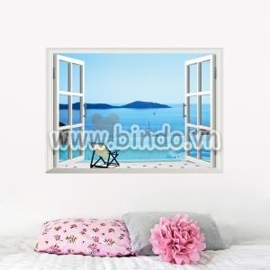 Decal dán tường Cửa sổ biển lặng