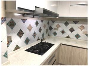Decal dán tường Dán bếp hoa văn 4 (0,6 x 3m)