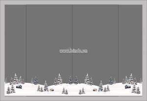 Decal dán tường Decal cánh đồng tuyết 1