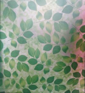 Decal dán tường Decal dán kính lá xanh