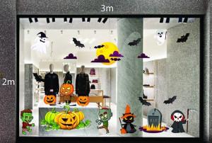 Decal dán tường Decal trang trí Halloween 2018 số 22