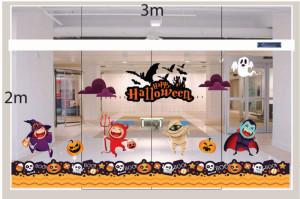 Decal dán tường Decal trang trí Halloween 2018 số 1