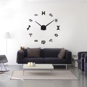 Decal dán tường Đồng hồ khổ lớn ký hiệu đặc biệt màu đen