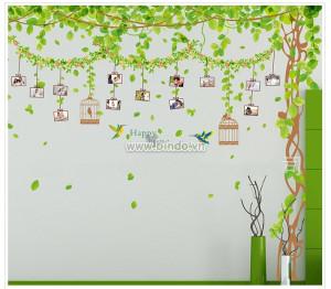Decal dán tường Giàn cây Photo (Combo 3 tấm)