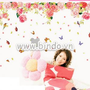Decal dán tường Giàn hoa hồng 2
