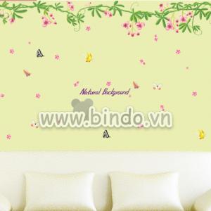 Decal dán tường Giàn hoa ti gôn lớn