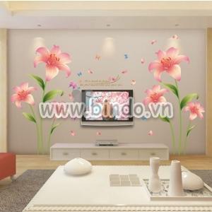Decal dán tường Hoa ly hồng