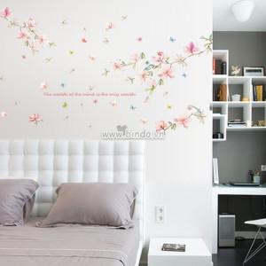Decal dán tường Hoa mùa xuân