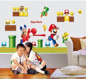 Decal dán tường Hoạt hình Mario